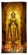 Buddha Inside Ananda Temple - Bagan - Myanmar Beach Towel