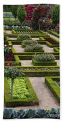 Cabbage Garden Chateau Villandry  Beach Towel