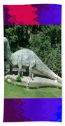 Canadian Dinosour Museaum    Canada Is Rich In Fossils Especially The Provinces Of Alberta And Bri Beach Towel