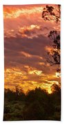 Canyon Dechelly Sunset In Copper And Gold Beach Towel
