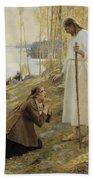 Christ And Mary Magdalene A Finnish Legend Beach Sheet