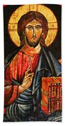Christ The Pantocrator Icon II Beach Towel
