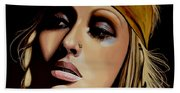 Christina Aguilera Painting Beach Towel