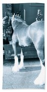 Clydesdale In Black And White Beach Towel