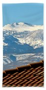 Cold Day New Snow Up There Beach Towel