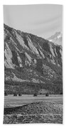 Colorado Rocky Mountains Flatirons With Snow Covered Twin Peaks Beach Towel