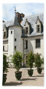 Courtyard Chateau Chaumont Beach Towel