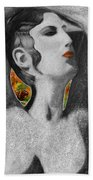 Cyprus Map And Aphrodite Beach Towel by Augusta Stylianou