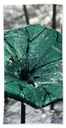 Glass Lily Pad  Beach Towel