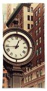Historic Clock Of The Fifth Avenue Beach Towel