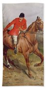 Hunting Scene Beach Towel