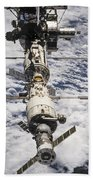 International Space Station Beach Towel by Anonymous