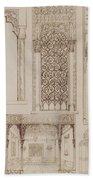 Islamic And Moorish Design For Shutters And Divans Beach Towel by Jean Francois Albanis de Beaumont