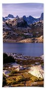 Island Lake And Wind River Range Beach Towel