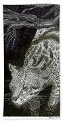 Jaguar Or Jacaranda  Beach Towel