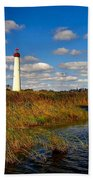 Lighthouse At The Water Beach Towel