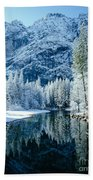 Merced River Reflection 2 Beach Towel
