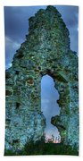 Midley Church Ruins At Dusk Beach Towel