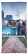 New Romare-bearden Park In Uptown Charlotte North Carolina Earl Beach Towel