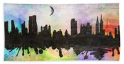 New York 6 Beach Towel