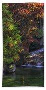 Nishinomiya Japanese Garden - Waterfall Beach Towel