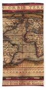 Ortelius World Map -typvs Orbis Terrarvm - 1570 Beach Towel