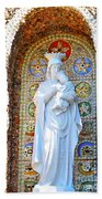 Our Lady Of Perpetual Help Mary And Jesus Beach Towel