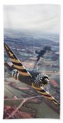 P47- D-day Train Busters Beach Towel