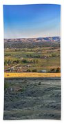 Panoramic Emmett Valley Beach Towel