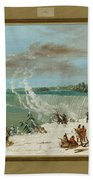 Portage Around The Falls Of Niagara At Table Rock Beach Towel