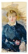 Portrait Of Louise Riesener Beach Towel