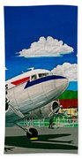 Portsmouth Ohio Airport And Lake Central Airlines Beach Towel