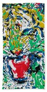 Roaring Enamel Tiger Beach Towel