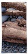 Rocks  In Driftwood Beach Towel