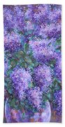 Scented Lilacs Bouquet Beach Towel