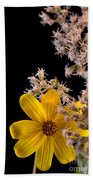 Shy Yellow Flower Beach Towel