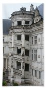 Spiral Staircase In The Francois I Wing - Chateau Blois Beach Towel