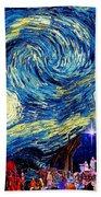Starry Night In Bethlehem Beach Towel