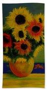Summer Sunflowers  Beach Towel