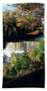 Tahquamenon Falls In Autumn Beach Towel