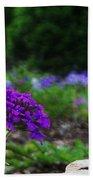 Violet Flower Beach Towel