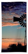 Windmill At Dawn Beach Towel