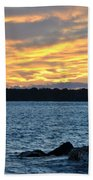 001 Awe In One Sunset Series At Erie Basin Marina Beach Towel