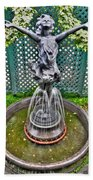 001 Fountain Buffalo Botanical Gardens Series Beach Towel