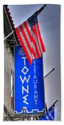 001 Towne Restaurant  Beach Towel