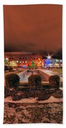 0010 Christmas Light Show At Roswell Series Beach Towel