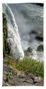 0010 Niagara Falls Misty Blue Series Beach Towel