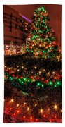 0011 Christmas Light Show At Roswell Series Beach Towel