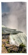 0011 Niagara Falls Misty Blue Series Beach Towel