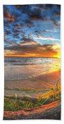 0014 Awe In One Sunset Series At Erie Basin Marina Beach Towel